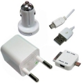 CARGADOR 4 EN 1 PARA IPHONE 3GS / 4G - BLACKBERRY