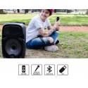 Parlante portátil PCBox Pepper | 20W | Bluetooth | USB | Lector de Tarjetas | FM | Mic Inalámbrico