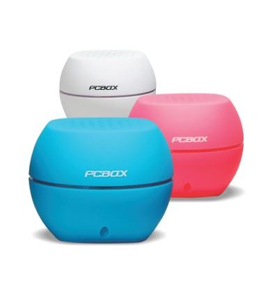 Parlante portátil PCBox Ash | Bluetooth | 7hs autonomía | 2W | Resistente caídas