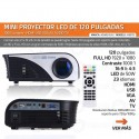 Mini Proyector Led Full Hd 1200 Lumens 120 Pulgadas Hdmi Usb