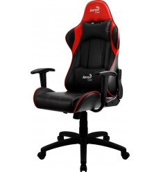 Silla Gamer Aerocool Ac100 Air Negra/rojo, Reclinable, 150kg