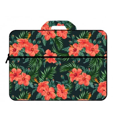 Funda Tipo Maletin Notebook Neoprene Para 14 Y 15.6 Bolsillo Y Manijas Diseños Surtidos