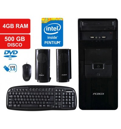 PC - CPU Intel Pentium G3250. 4GB, HD 500GB