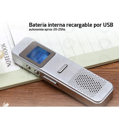 Grabador Digital De Voz Daza 8gb Mp3 Usb Microfono Stereo