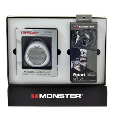 Parlante Monster + Auriculares Manos Libre + Remera Dybala
