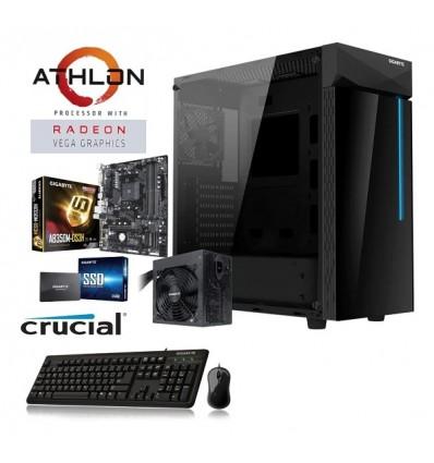 Pc Gamer Gigabyte Amd Athlon 3000g B350 4gb Ssd 240 Free Dos