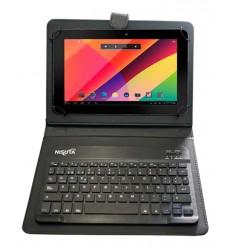 Funda Cuero Tablet 7-8 con. Teclado Bluetooth+iman Nisuta