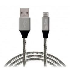 Cable Usb Micro Usb De 1m De 2.1a Con Malla D Metal Nisuta