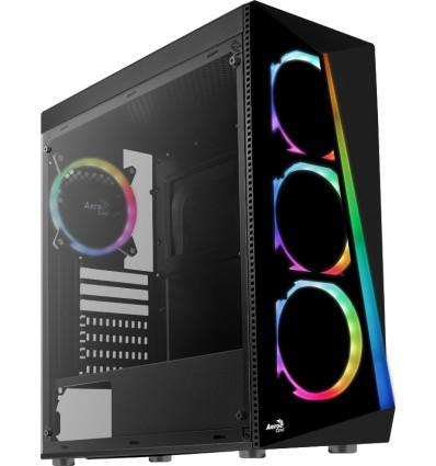 Gabinete Aerocool Shard + 4 FANS RGB