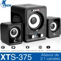 Parlante Pc Subwoofer Xtech 2.1 Lector Micro Sd Usb Xts-375bk