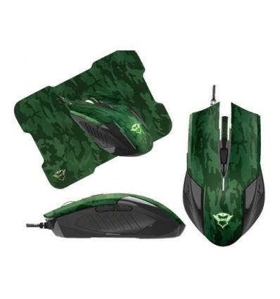 Mouse Gamer Trust 781 Rixa Camo + Pad Mouse Combo