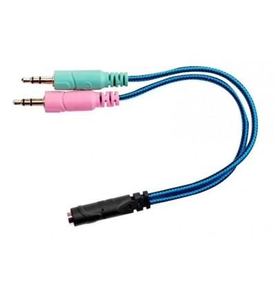 Adaptador 2 Plug M a Plug H 4 contactos