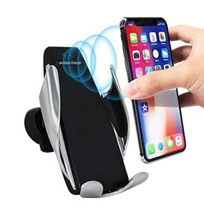 Soporte Auto Cargador Inalámbrico Qi Sensor iPhone Samsung