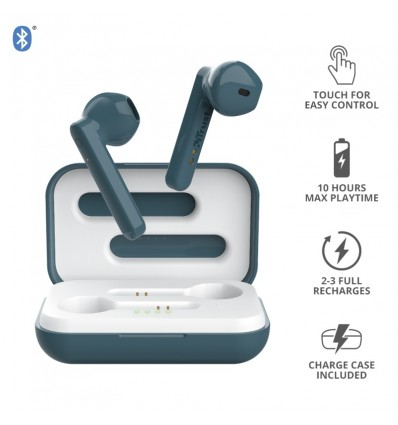 Auricular Trust Primo Bluetooth Touch Blue Inalambrico Rosa