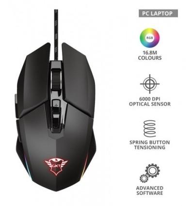 Mouse Pc Gamer Trust Gxt 950 Idon Rgb 7 Botones