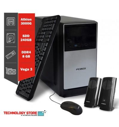Pc Armada Cpu Computadora Amd E2 6110 8gb 240gb Ssd. Win 10