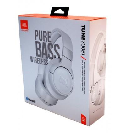 Auriculares Bluetooth Jbl T700 Blanco 27 Horas Duracion