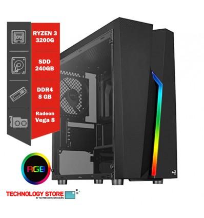 PC GAMER | RYZEN 3 3200G | 8GB DDR4| SSD 240gb |Gabinete Gamer Sentey G18 | 550W